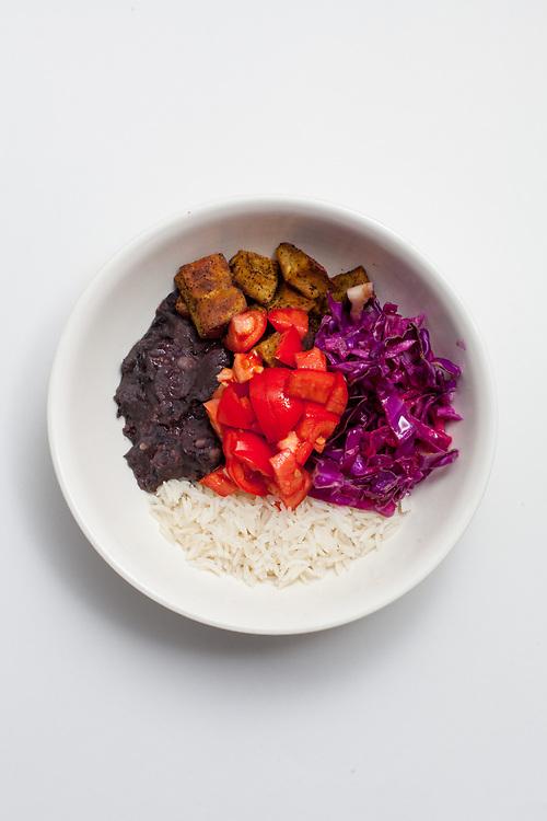 Sweet Potato & Black Bean Burrito Bowl from the fridge (m€) - COVID-19 Social Distancing