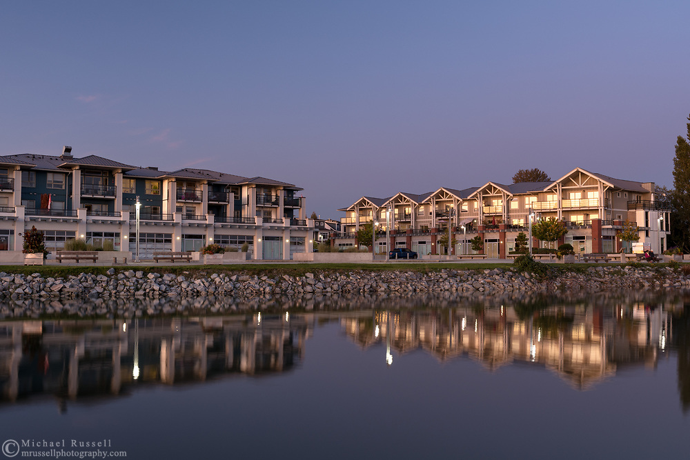Waterfront condos at Imperial Landing and Steveston Harbour in Richmond, British Columbia, Canada