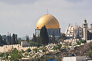 Israel, Jerusalem, Dome of the Rock on Temple mount