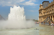 Fountains of the Louvre Paris .<br /> <br /> Visit our FRANCE HISTORIC PLACES PHOTO COLLECTIONS for more photos to download or buy as wall art prints https://funkystock.photoshelter.com/gallery-collection/Pictures-Images-of-France-Photos-of-French-Historic-Landmark-Sites/C0000pDRcOaIqj8E