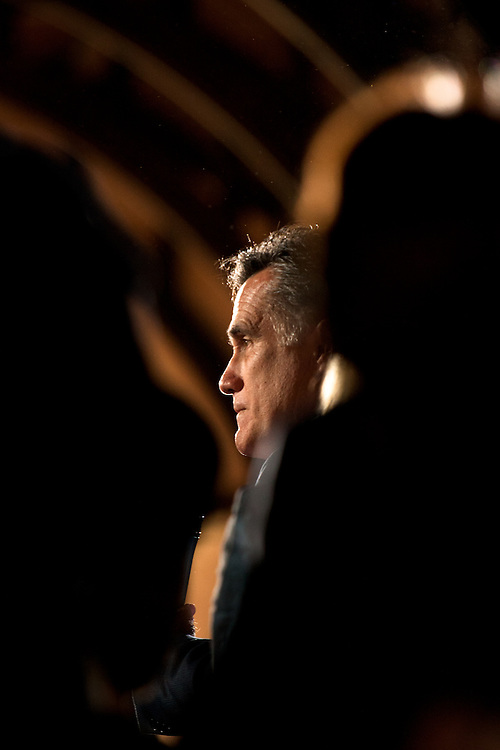 Mitt Romney addresses his supporters at McBryde Hall on the Winthrop campus in Rock Hill, SC.