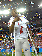 MORNING JOURNAL/DAVID RICHARD.Ohio State receiver Ted Ginn, Jr. after the BCS National Championship game vs. Florida.