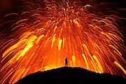 Dancing with the Devil<br /> Erupting volcano in Fimmvörðuháls/Eyjafjallajökull, south Iceland