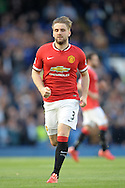 Luke Shaw of Manchester United in action. Barclays Premier league match, Chelsea v Manchester Utd at Stamford Bridge Stadium in London on Saturday 18th April 2015.<br /> pic by John Patrick Fletcher, Andrew Orchard sports photography.