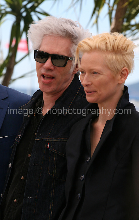 Director Jim Jarmusch and Actress Tilda Swinton at Only Lovers Left Alive Photocall Cannes Film Festival On Saturday 26th May May 2013