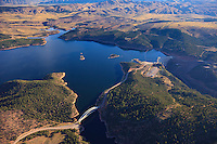 Cart Creek Bridge and the Dam at Flaming Gorge Reservoir