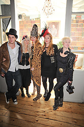 Left to right, HENRY TEMPERLEY, DI TEMPERLEY and her daughters ALICE TEMPERLEY, MARY TEMPERLEY and MATHILDA TEMPERLEY at a party to celebrate the 1st anniversary of Alice Temperley's label held at Paradise, Kensal Green, London W10 on 25th November 2010.