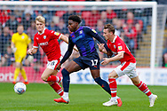 Luton Town midfielder Pelly Ruddock Mpanzu (17) in action  during the EFL Sky Bet League 1 match between Barnsley and Luton Town at Oakwell, Barnsley, England on 13 October 2018.