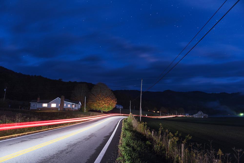 Autumn Road in West Virginia.