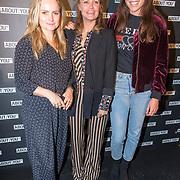 NLD/Amsterdam/20171009 - opening webshop About You, Fatima Moreiro de Melo, Sophie Polkamp en Naomi van As