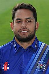 Gloucestershire player, Kieran Noema-Barnett - Photo mandatory by-line: Dougie Allward/JMP - 07966 386802 - 10/04/2015 - SPORT - CRICKET - Bristol, England - Bristol County Ground - Gloucestershire County Cricket Club Photocall.
