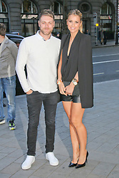 © Licensed to London News Pictures. 24/04/2014, UK. Brian McFadden and Vogue Williams, Stealing Banksy? - VIP launch party, ME Hotel, London UK, 24 April 2014. Photo credit : Richard Goldschmidt/Piqtured/LNP