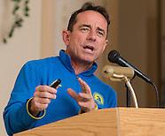 Boston Marathon race director Dave McGillivray at Orange Runners Club meeting