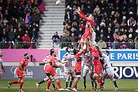 Virgile Bruni - 28.12.2014 - Stade Francais / Racing Club Toulon - 14eme journee de Top 14<br />Photo : Aurelien Meunier / Icon Sport