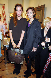 Left to right, KATE GOLDSMITH and SHEHERAZADE GOLDSMITH at a party to celebrate the publication of Country Living by Kathryn Ireland held at Blanchards, 86-88 Pimlico Road, London SW1 on 25th September 2007.<br /><br />NON EXCLUSIVE - WORLD RIGHTS