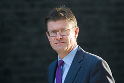 © Licensed to London News Pictures. 12/09/2017. London, UK. Secretary of State for Business, Energy and Industrial Strategy GREG CLARKE arrives at 10 Downing Street in London ahead of a cabinet meeting.  In the early hours of this morning government won a vote in Commons passing the EU repeal bill, by a margin of 326 to 290 votes. Photo credit: Ben Cawthra/LNP