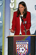 28 August 2006: 2006 Hall of Fame inductee Carla Overbeck. The National Soccer Hall of Fame Induction Ceremony was held at the National Soccer Hall of Fame in Oneonta, New York.