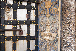 stock photo of a decorated door in russia