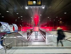 Interior of Hafencity University underground station in Hamburg, Germany