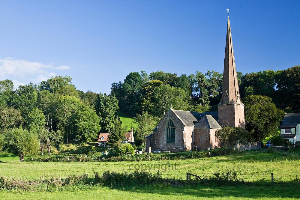 Church of St Tysilio in Sellack, Herefordshire, England, United Kingdom