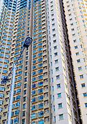Apartment buildings at Wong Tai Sin district (Fung Tak Road), Kowloon, Hong Kong, China.