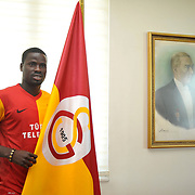 Emmanuel Eboue from the Ivory Coast has signed a four-year contract with Galatasaray Istanbul, the Turkish soccer club announced on 16 August 2011. Turkish soccer club Galatasaray nw player Emmanuel EBOUE during their at Florya Metin Oktay Sports Hall in Istanbul Turkey on Tuesday 16 August 2011. Photo by TURKPIX