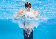 6/30/08 Omaha, NEB.Scott Usher in the 100M Breast Stroke Finals during the Olympic Trials..Chris Machian/Grand Island Independent