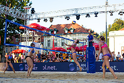 Jelena Strel Kosmac and Matrina Jakob Emersic vs Gabriela Kotkova and Tereza Jarosova of Czech Republic at Beach Volleyball Challenge Ljubljana 2014, on August 1, 2014 in Kongresni trg, Ljubljana, Slovenia. Photo by Matic Klansek Velej / Sportida.com
