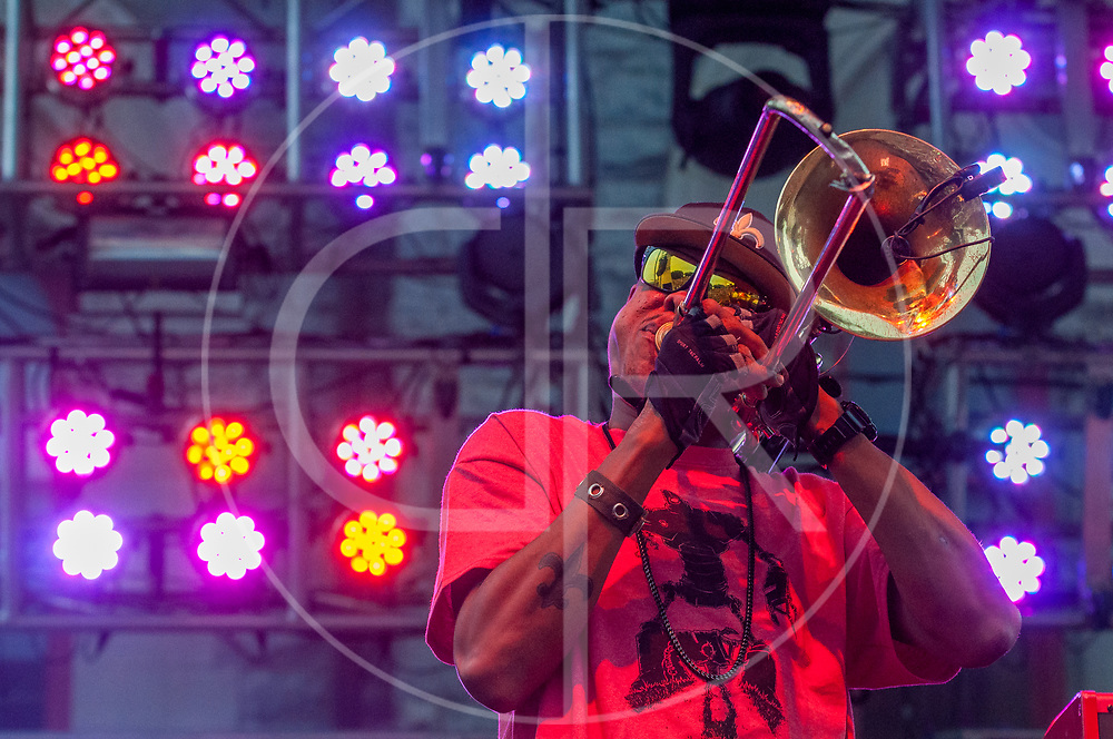 BALTIMORE United States - July 19, 2014: Galactic performs on the Wells Fargo Stage at Artscape, located in Baltimore's Mount Royal Cultural Corridor