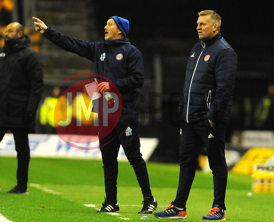 Brentford manager Dean Smith watches from the side line -Mandatory by-line: Nizaam Jones/JMP - 02/01/2018 - FOOTBALL - Molineux - Wolverhampton, England- Wolverhampton Wanderers v Brentford -Sky Bet Championship