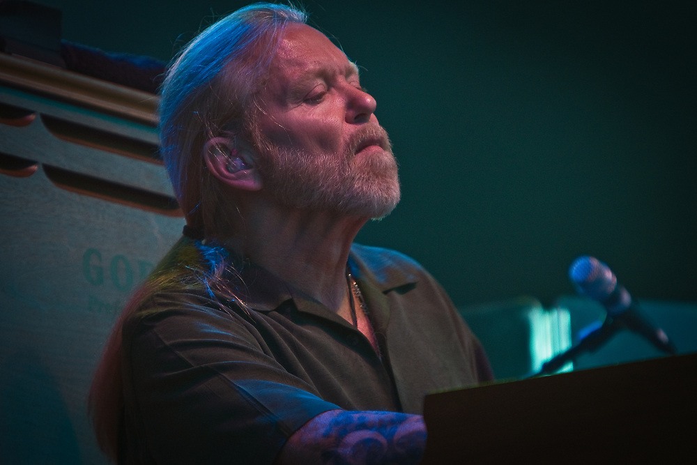 Singer/keyboardist GREGG ALLMAN of The Allman Brothers Band performs at the Jazz Aspen Snowmass Labor Day Festival in Snowmass Town Park.