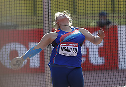 July 10, 2018 - Tampere, Suomi Finland - 180710 Friidrott, Junior-VM, Dag 1: Ioana Diana Tiganasu, ROU competes in Discus Throw during the IAAF World U20 Championships day 1 at the Ratina stadion 10. July 2018 in Tampere, Finland. (Newspix24/Kalle Parkkinen) (Credit Image: © Kalle Parkkinen/Bildbyran via ZUMA Press)