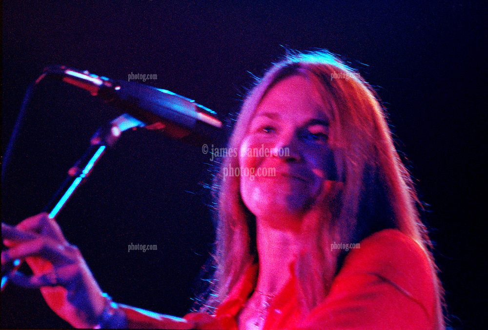 Donna Jean Gaudchaux with The Grateful Dead. Huntington Civic Center, West Virginia. During Aiko Aiko 16 April 1978. Photo is soft due to motion blur. Usable small reproduction.