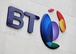 File photo dated 05/10/13 of the BT logo, as three BT broadband ads have been banned for wrongly implying that the company offers the fastest maximum speed for the cheapest price on the market.