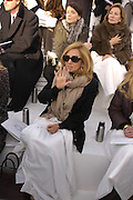 Lady bamford, Chanel couture fashion show. Grand Palais, Ave Winston Churchill. Paris. 24  January  2006.  ONE TIME USE ONLY - DO NOT ARCHIVE  © Copyright Photograph by Dafydd Jones 66 Stockwell Park Rd. London SW9 0DA Tel 020 7733 0108 www.dafjones.com
