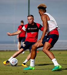 Joe Morrell of Bristol City takes on Lloyd Kelly - Mandatory by-line: Matt McNulty/JMP - 20/07/2017 - FOOTBALL - Tenerife Top Training Centre - Costa Adeje, Tenerife - Pre-Season Training
