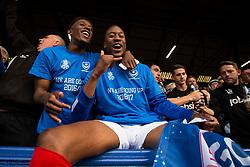 Jamal Lowe of Portsmouth and Nicke Kabamba of Portsmouth celebrate - Mandatory by-line: Jason Brown/JMP - 06/05/2017 - FOOTBALL - Fratton Park - Portsmouth, England - Portsmouth v Cheltenham Town - Sky Bet League Two