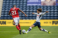 Preston North End's Ben Pearson (right) competing with Nottingham Forest's Samba Sow <br /> <br /> Photographer Andrew Kearns/CameraSport<br /> <br /> The EFL Sky Bet Championship - Preston North End v Nottingham Forest - Saturday 11th July 2020 - Deepdale Stadium - Preston <br /> <br /> World Copyright © 2020 CameraSport. All rights reserved. 43 Linden Ave. Countesthorpe. Leicester. England. LE8 5PG - Tel: +44 (0) 116 277 4147 - admin@camerasport.com - www.camerasport.com