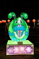 Dog  Lantern at Chinese New Year