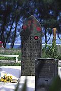 Gravestone, Rarotonga, Cook islands<br />