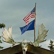 North America, United States, US, Northwest, Pacific Northwest, West, Alaska, Katmai, Katmai National Park, Katmai NP. Brooks Lodge deep in Katmai National Park, Alaska.