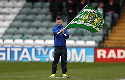 Children with Yeovil Town flags - Mandatory by-line: Gary Day/JMP - 01/04/2017 - FOOTBALL - Huish Park - Yeovil, England - Yeovil Town v Carlisle United - Sky Bet League Two
