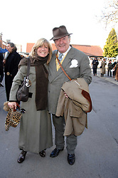 INGRID SEWARD and SIR DAI LLEWELLYN at the 2007 Hennessy Gold Cup held at Newbury racecourse, Berkshire on 1st December 2007.<br />