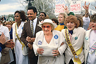 Washington, DC 1989/04/09 A Pro Choice Rally in Washington with Jesse Jackson and Bella Abzug.<br />Photo by Dennis Brack