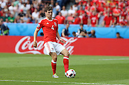 Ben Davies of Wales in action. UEFA Euro 2016, last 16 , Wales v Northern Ireland at the Parc des Princes in Paris, France on Saturday 25th June 2016, pic by  Andrew Orchard, Andrew Orchard sports photography.