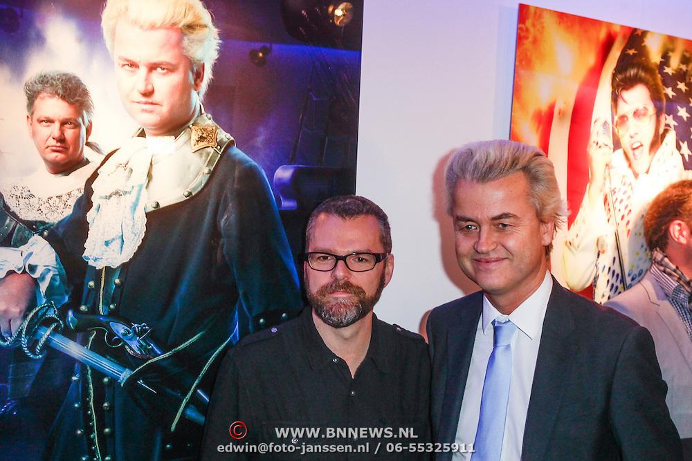 NLD/Amsterdam/20121126- Kika veiling 2012 foto's Veronica gids, William Rutten en Geert Wilders