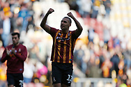 Bradford City's James Vaughan(12) celebrates at full time during the EFL Sky Bet League 2 match between Bradford City and Northampton Town at the Utilita Energy Stadium, Bradford, England on 7 September 2019.