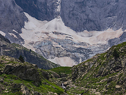 View of mount and glacier Vignemale, Cauterets, France