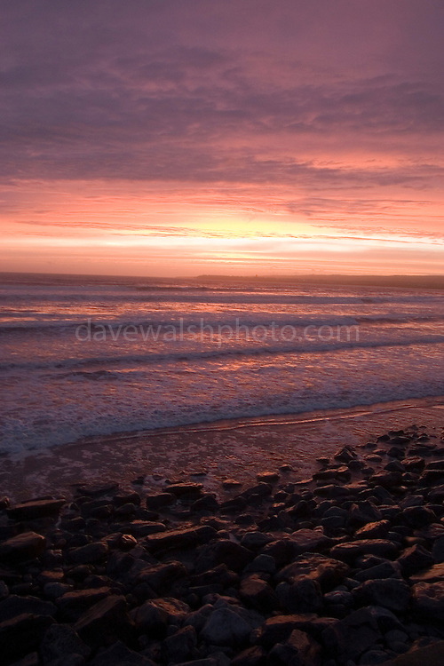 Lahinch Beach, , Co. Clare, Ireland at sunset