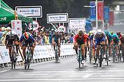 Arrival sprint Fabio Jakobsen (NED - QuickStep - Floors) winner, Dylan Groenewegen (NED - Team LottoNL - Jumbo), Max Walscheid (GER - Team Sunweb), Pascal Ackermann (GER - Bora - Hansgrohe) during the Tour of Guangxi 2018, Stage 3, Nanning - Nanning (125,4 km) on October 18, 2018 in Nanning, China - photo Luca Bettini / BettiniPhoto / ProSportsImages / DPPI